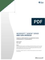 Geneva and Sun OpenSSO