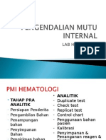 Pengendalian Mutu Internal Hematologi
