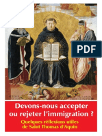 Saint Thomas et l'Immigration
