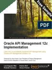 Oracle API Management 12c Implementation - Sample Chapter