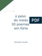 O peso do medo, 30 poemas em fúria 5.1 - edição do autor
