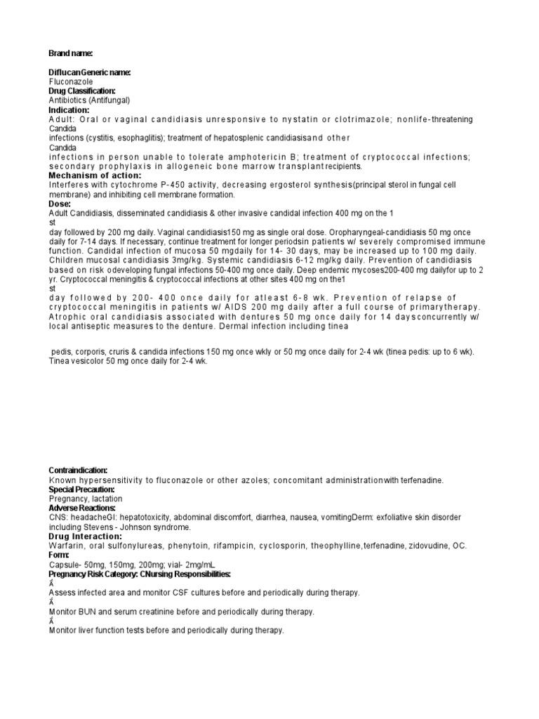 diflucan   Candidiasis   Candida (Fungus) on