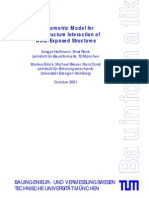 A Geometric Model for Fluid-Structure Interaction of Wind-Exposed Structures