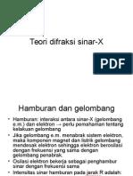 Teori Difraksi Sinar X