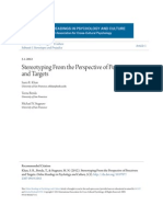 Stereotyping From the Perspective of Perceivers and Targets