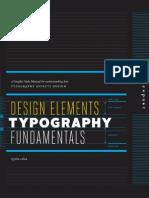 Design Elements Typogrphy Fundamentals