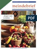Gemeindebrief 2015 09 Herbst - 17. Ausgabe