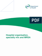 Hospital Organisation, Specialty Mix and MRSA