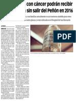 150929 La Verdad CG- Los Pacientes Con Cáncer Podrán Recibir Quimioterapia Sin Salir Del Peñón en 2016 p.9