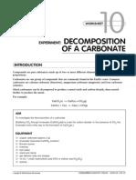Decomposition of a Carbonate