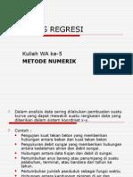 Kuliah Metnum Wa 4 Analisis Regresi
