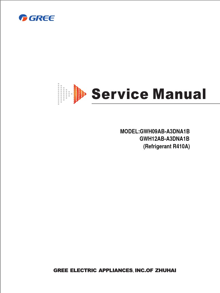 Gree Service Manual   Air Conditioning   Hvac