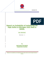 DHDS  VGO Opr Study Report