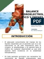 Seminario de Balance Hidroelectrolítico y Drenes