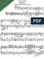 Stravinsky 1919 Ragtime Tr for Piano
