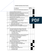 Checklist Pemeriksaan Rectal Toucher