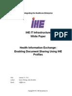 IHE ITI White Paper Enabling Doc Sharing Through IHE Profiles Rev1!0!2012!01!24