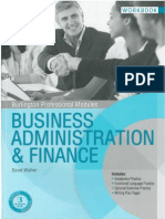 Business Administracion y Finance Workbook