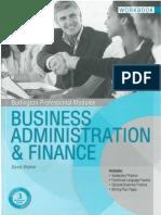 Business Administracion y Finance Workbook