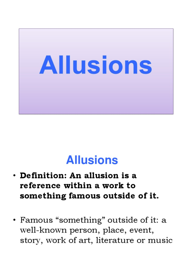 Allusions Powerpoint Achilles Leisure