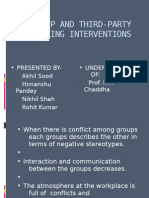 Intergroup and third party peacemaking interventions
