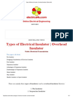Types of Electrical Insulator
