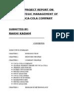 COCA COLA STRATEGIC MANAGEMENT REPORT