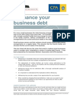 Refinancing Your Business Debt Fact Sheet