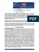 Pes Manifesto - Adopted by the Pes Election Congress En