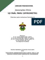 Manual Csl II Uji Faal Paru Spirometri