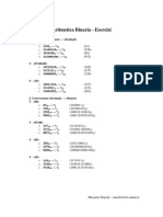 aritmetica binaria esercizi