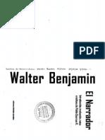 El Narrador - Walter Benjamin