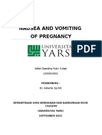 Jurnal Reading Nausea and Vomiting of Pregnancy