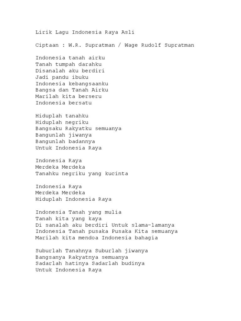 Download Lagu Indonesia Raya Asli Check Link Download Di Bawah R
