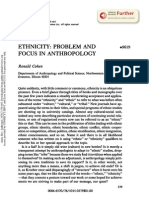 Ethnicity_problem Focus in Anthropology