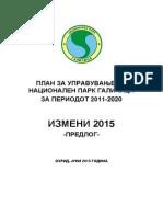 Amendments to Park Management Plan 2015 MKD