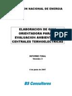 Guía Orientadora Para Evaluación Ambiental de Centrales Termoeléctricas