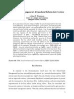School-Based Management a Structural Reform Intervention