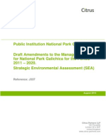 Draft Amendments to the Management Plan for National Park Galichica for the Period 2011 – 2020