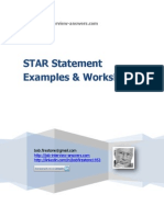 STAR Statements for Job Interview