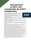 Economía Peruana Cerró El 2011 Con Crecimiento de 6