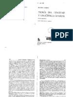 Coseriu Eugenio - Teoria Del Lenguaje y Linguistica General (Extracto)