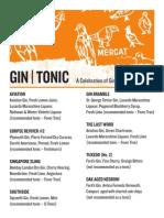 Gin Tonic Card at Mercat