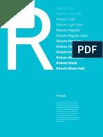 Roboto Specimen Booklet