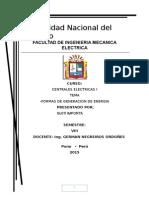 FORMAS DE GENERACION Centrales ELECTRICAS