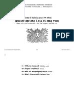 Quatre Motets à six et cinq voix, 1542 / Claudin de Sermisy