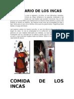 Vestuario de Los Incas