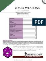 OGL Pathfinder RPG - Legendary Weapons
