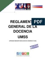 Reglamento General de La Docencia Umss