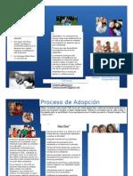 Triptico Adopcion en Chile